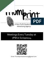 thumbprint new flyer