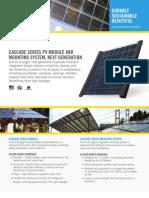 Silicon Energy Cascade Series Photovoltaic Module specification sheet