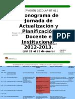CRONOGRAMA DE LA JORNADA DE ACTUALIZACION