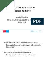 Fundos comunitários e formação do capital humano
