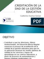 ACREDITACIÓN DE LA CALIDAD DE LA GESTIÓN EDUCATIVA.