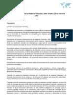 Acuerdo Internacional de las Maderas Tropicales, 1994. Ginebra, 26 de enero de 1994