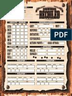 sidewinder recoliled rpg sheet