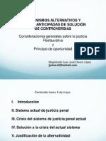 MECANISMOS ALTERNATIVOS Y FORMAS ANTICIPADAS DE SOLUCIÓN DE CONTROVERSIAS