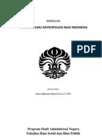 MANFAAT ILMU ANTROPOLOGI BAGI INDONESIA