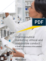 Survey report - Pharmaceutical Marketing - Ethical and Responsible conduct