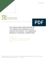 """Green Grid White Paper 12 - LBNL Peer Review """"DC Power for improved data center efficiency"""""""