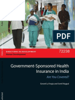 Government Sponsored Health Insurance in India