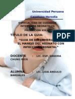 GUIA ENFERMERA SOBRE PROCESO INFECCIOSO