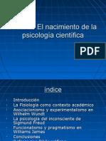 Nacimiento de la psicología científica