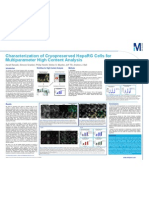 Characterization of Cryopreserved HepaRG Cells for Multiparameter High Content Analysis