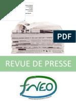 Revue de presse janvier 2013
