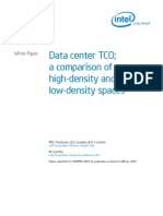 Data center TCO; a comparison of high-density and low-density spaces