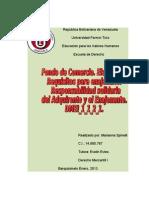 Fondo de Comercio. Elementos. Requisitos para enajenarlo. Responsabilidad Solidaria del Adquirente y el Enajenante.