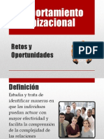 Retos del Comportamiento Organizacional