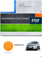 Automobile Indstry - Marketing Strategy