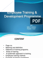 Employees Training Programs and Management Development