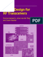 97060633 Circuit Design for RF Transceivers Book