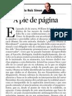 Josep Maria Ruiz Simon. a Pie de página
