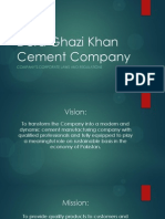 DG Khan Cement Corporate Laws and regulations