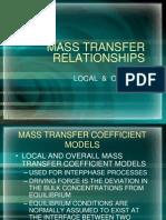 MASS TRANSFER RELATIONSHIPS