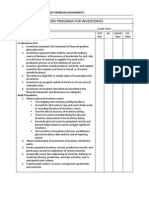audit program for inventories