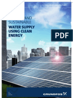 Flexible and sustainable water supply using clean energy
