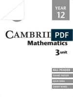 Cambridge Mathematics 3 Unit Year 12