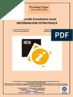 Desarrollo Económico Local. INFORMACION ESTRATÉGICA (Es) Local Economic Development. STRATEGIC INFORMATION (Es) Tokiko Ekonomi Garapena. INFORMAZIO ESTRATEGIKOA (Es)