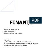 Finante-Suport de curs anul II