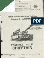 Chieftain Tank Pamphlet No 33 - Armament
