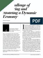 El Desafio de La Medida en Economia Dinamica