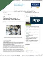 Células madre en tratamiento contra diabetes