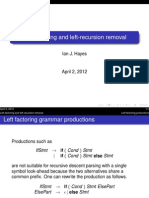 Left recursion