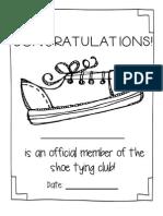 Shoe Tying Awards
