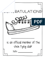 Shoe Tying Awards