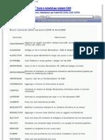 Nuovi comandi della versione 2008 di AutoCAD