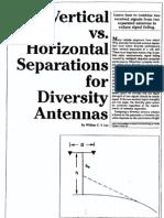 horizontal vs vertical separation in space diversity antennas