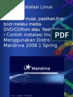 Contoh Instalasi Linux