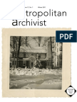 Metropolitan Archivist Vol. 17, No. 1