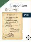 Metropolitan Archivist, Vol. 17, No. 2