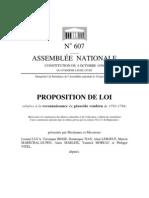 Proposition de loi n° 607