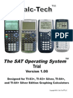 SAT Calculator Program SAT Operating System TI-83+ TI-84+ Trial Manual
