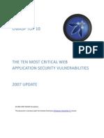OWASP Top 10 Threats