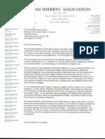 Utah Sheriffs' Association's letter to President Barack Obama