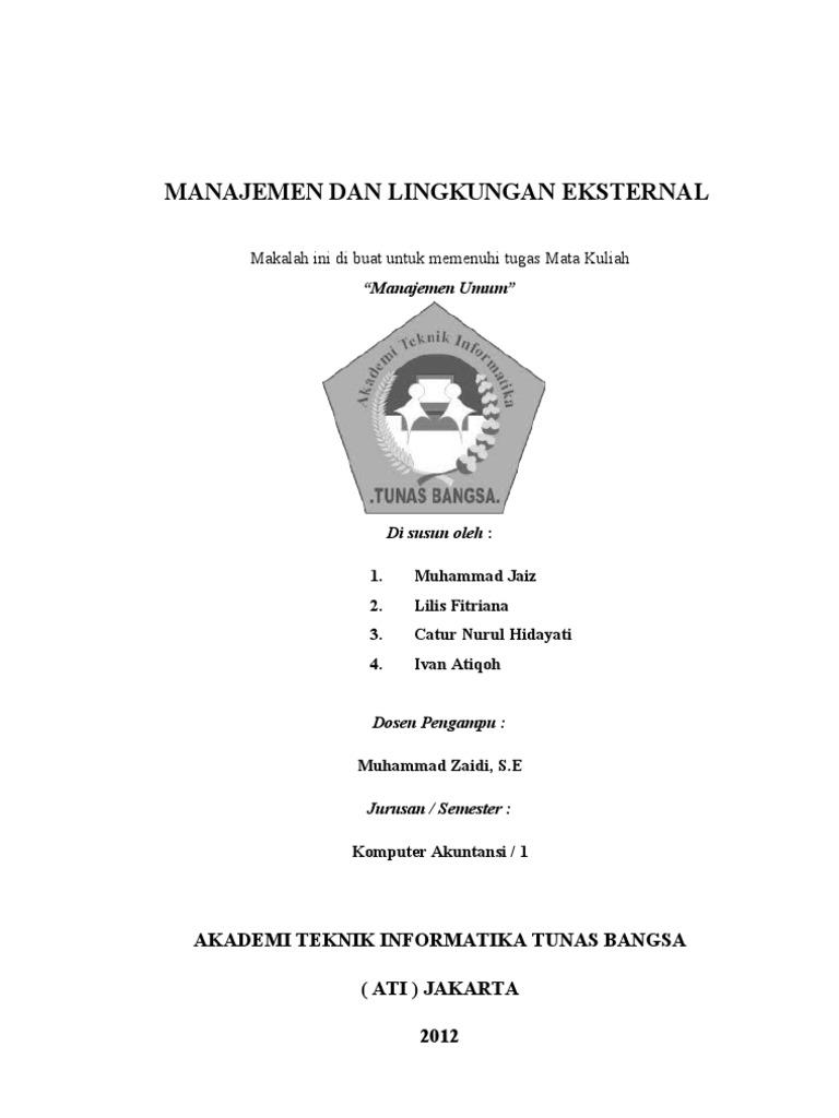 Makalah Manajemen Dan Lingkungan