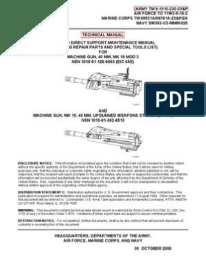 MK23 manual   Cartridge (Firearms)   Machine Gun