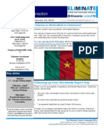 USA 2 Newsletter-The Eliminate Project-1-19-13