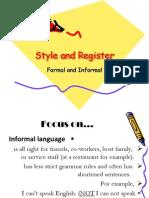 Language Description - Style and Register
