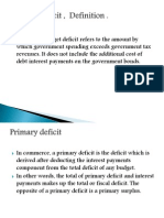Primary Deficit